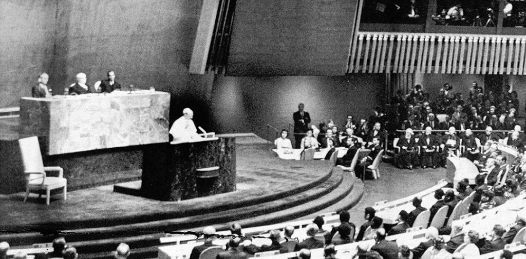 El Papa Pablo VI visita Estados Unidos